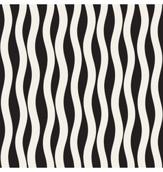 Seamless Black and White Hand Drawn Wavy vector