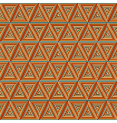 Seamless colorful Orange Triangulate Pattern vector