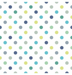 Seamless pastel pattern blue polka dots background vector