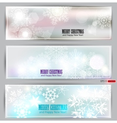 set of elegant winter banners vector image