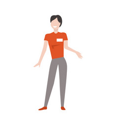 Shop assistant woman character vector