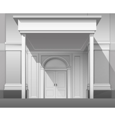 Shop Building Front with Closed Door Isolated vector image