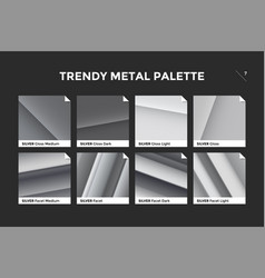 silver gradient template icon vector image