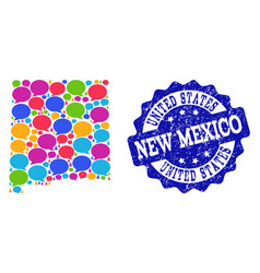 Social network map of new mexico state with speech vector