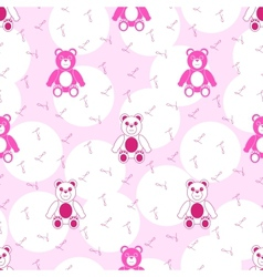 Teddy Bear Pink Seamless Pattern vector