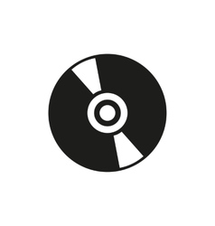 The cd icon Compact disk symbol Flat vector image
