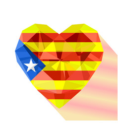 The estelada heart with the flag of the catalonia vector