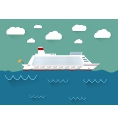 The of cruise ship vector