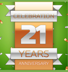 twenty one years anniversary celebration design vector image