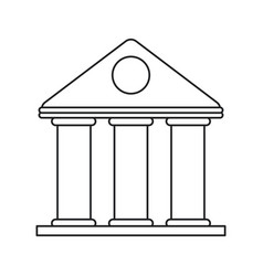 university building style temple thin line vector image