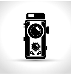 vintage photography camera design graphic vector image