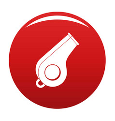 Whistle icon red vector