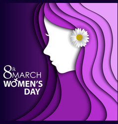 women day greeting card with flower vector image