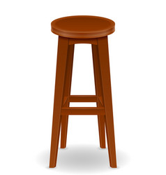 Wooden bar chair stool set icons vector