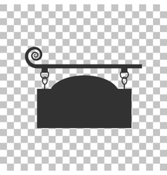 Wrought iron sign for old-fashioned design dark vector