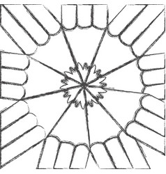 contour abstract pencils bacground icon vector image