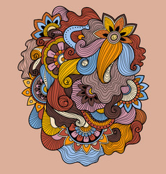 doodle art floral drawing tattoo flower template vector image