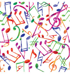 music pattern music notes and signs seamless vector image vector image