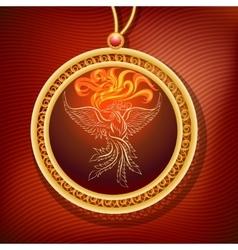 Phoenix Pendant vector image