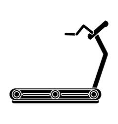 pictogram fitness walking machine gym design vector image
