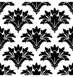 Black arabesque floral seamless pattern vector image vector image