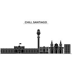 chili santiago architecture city skyline vector image