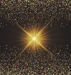 gold confetti background 1209 vector image vector image