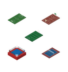 isometric competition set of tennis soccer vector image