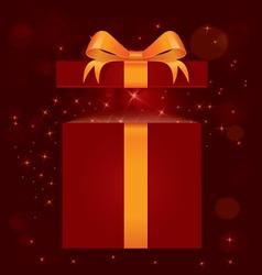 Magic light gift box vector image