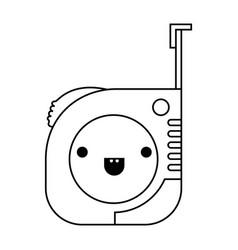 measure tape icon monochrome kawaii silhouette vector image vector image