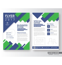 Multipurpose corporate business flyer template vector image vector image