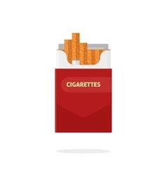 Open cigarettes pack box flat isolated vector image vector image