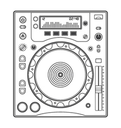 Outline dj cd player vector image vector image
