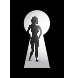 Woman key hole vector