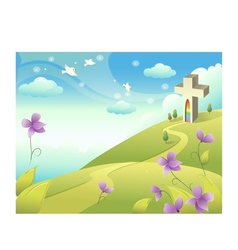 Church Landscape Background vector image vector image