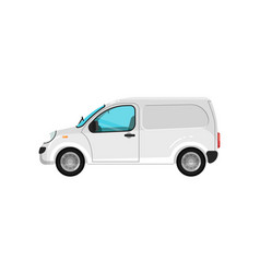commercial cargo minivan isolated icon vector image vector image
