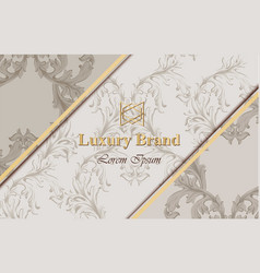 luxury baroquecard with golden notes vector image