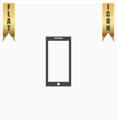 smartphone icon sign and button vector image vector image