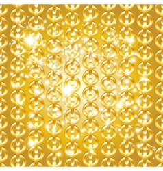 Gold chain seamless abstract pattern vector image