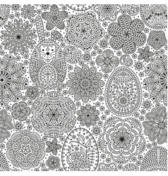happy easter seamless pattern good design vector image vector image