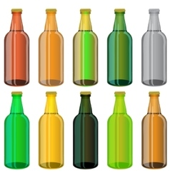 Set of Colorful Beer Glass Bottles vector image