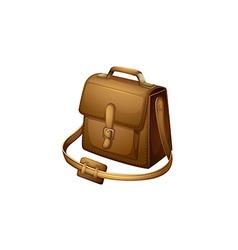 A brown shoulder bag vector
