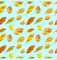 A repeating pattern with autumn leaves suitable vector
