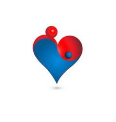abstract motherhood heart icon vector image