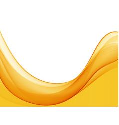 Abstract orange color wave design element vector