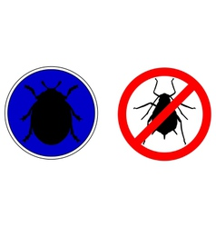 Aphid ladybird traffic signs vector image