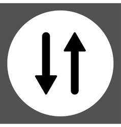Arrows Exchange Vertical flat black and white vector