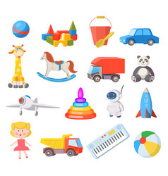 baby toys cartoon kids toy for boys and girls vector image