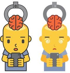Brain stolen vector