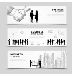 Business people banner vector image
